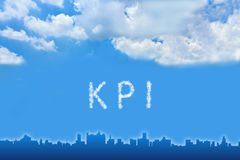 KPI or Key Performance indicator text on cloud Royalty Free Stock Photos