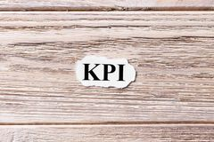 KPI - Key Performance Indicator word cloud, business concept Royalty Free Stock Images