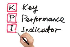 KPI - Key performance indicator. Words written on white board Stock Photo