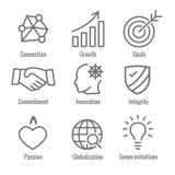 KPI - Key Performance Indicators Web Header Banner and Icon set stock illustration
