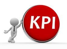 KPI (Kluczowego występu wskaźnik) guzik ilustracja wektor