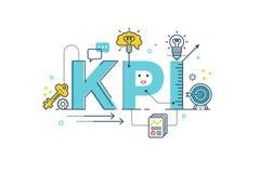 KPI: Parola dell'indicatore di efficacia chiave Fotografie Stock