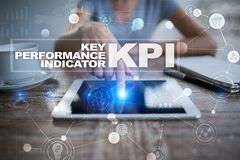 Kpi Schlüsselleistungsindikator Geschäfts- und Technologiekonzept stockbilder