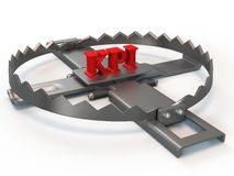KPI trap. Illustration on white background Royalty Free Stock Photography