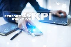 Kpi Zeer belangrijke prestatie-indicator Bedrijfs en technologieconcept royalty-vrije stock foto's