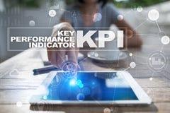 Kpi Zeer belangrijke prestatie-indicator Bedrijfs en technologieconcept stock foto's