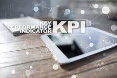Kpi Zeer belangrijke prestatie-indicator Bedrijfs en technologieconcept stock afbeeldingen