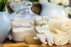 Kąpielowi akcesoria osobiste higien rzeczy Obrazy Royalty Free
