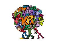 0009 KPIs Team vector illustration