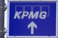 KPMG. Signpost of one of the big4 audit firms KPMG Royalty Free Stock Image