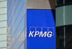 KPMG Canary Wharf Stock Images