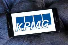 Kpmg logo royalty free stock photo