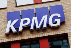 KPMG logo sign Royalty Free Stock Photo