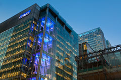 KPMG UK Head offcie in Canary Wharf Royalty Free Stock Images