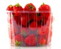 Köpta jordgubbar Arkivbild