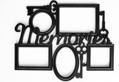 背景美好的黑色框架漏洞kpugloe仿造了照片 免版税库存照片