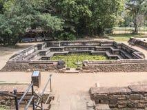 Królewski skąpanie, Polonnaruwa zdjęcie royalty free