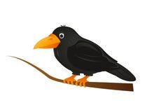 Krähe auf einem Baumzweig Lizenzfreie Stockfotografie