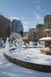 Krähenadler-Eisskulptur an Ottawa-` s Winterlude Lizenzfreie Stockbilder
