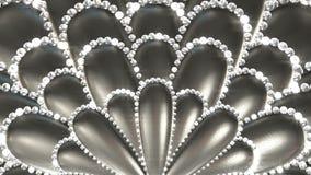 Kräm- blommor med diamanten royaltyfri illustrationer