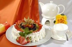 Kräm- cake royaltyfria foton