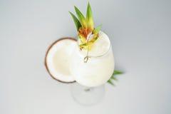 Kräm- coctail för kokosnöt Fotografering för Bildbyråer