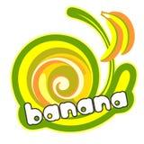 kräm- is för banan royaltyfri illustrationer