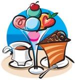 kräm- is för cake royaltyfri illustrationer