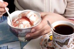 kräm- is för cofee Royaltyfri Foto