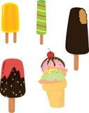 kräm- is för godis royaltyfri illustrationer