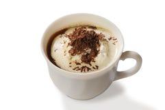 kräm- is för kaffe Arkivbild