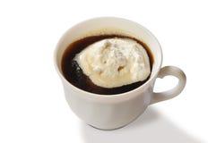 kräm- is för kaffe Fotografering för Bildbyråer