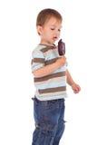 kräm- is för pojke little Royaltyfria Bilder