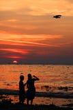 kräm- is för strand Royaltyfria Foton
