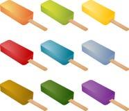 kräm fryst ispopsicle stock illustrationer