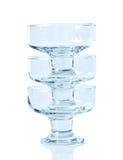 kräm- glass is tre för bunke Arkivfoton