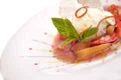 kräm- gourmet- is Royaltyfri Fotografi