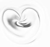 Kräm- hjärta stock illustrationer