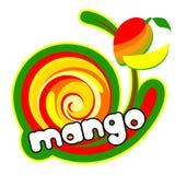 kräm- ismango stock illustrationer