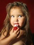kräm- jordgubbar piskar Arkivbilder