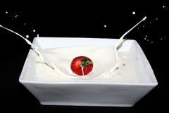 kräm- jordgubbe Arkivbilder
