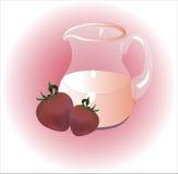 kräm- jordgubbe Royaltyfria Bilder