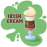 Kräm- kaffe för irländare Arkivbild