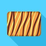Kräm- ljusbrun symbol, plan stil royaltyfri illustrationer