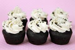 Kräm- mini- muffiner för Vegankakor n Arkivbild