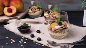 Kräm- och persikaöken lager videofilmer