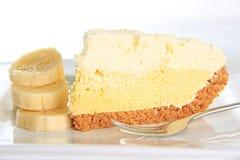 Kräm- pie för banan Fotografering för Bildbyråer