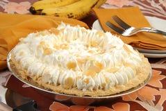 Kräm- pie för banan royaltyfri fotografi