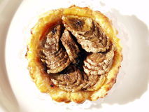 Kräm- pie för banan Arkivbild