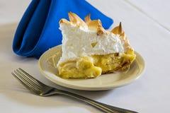Kräm- pie för banan Royaltyfria Bilder